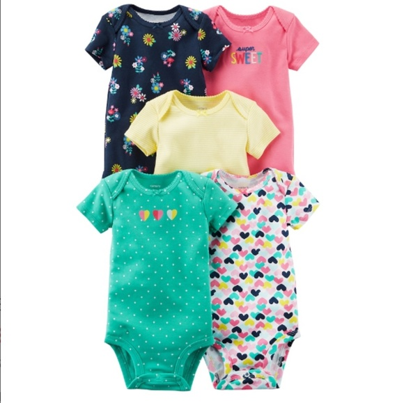 fe737660c Carter's One Pieces   Nwt 5 Pack Short Sleeve Bodysuits By Carters ...